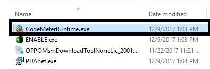 Run codemeter Runtime